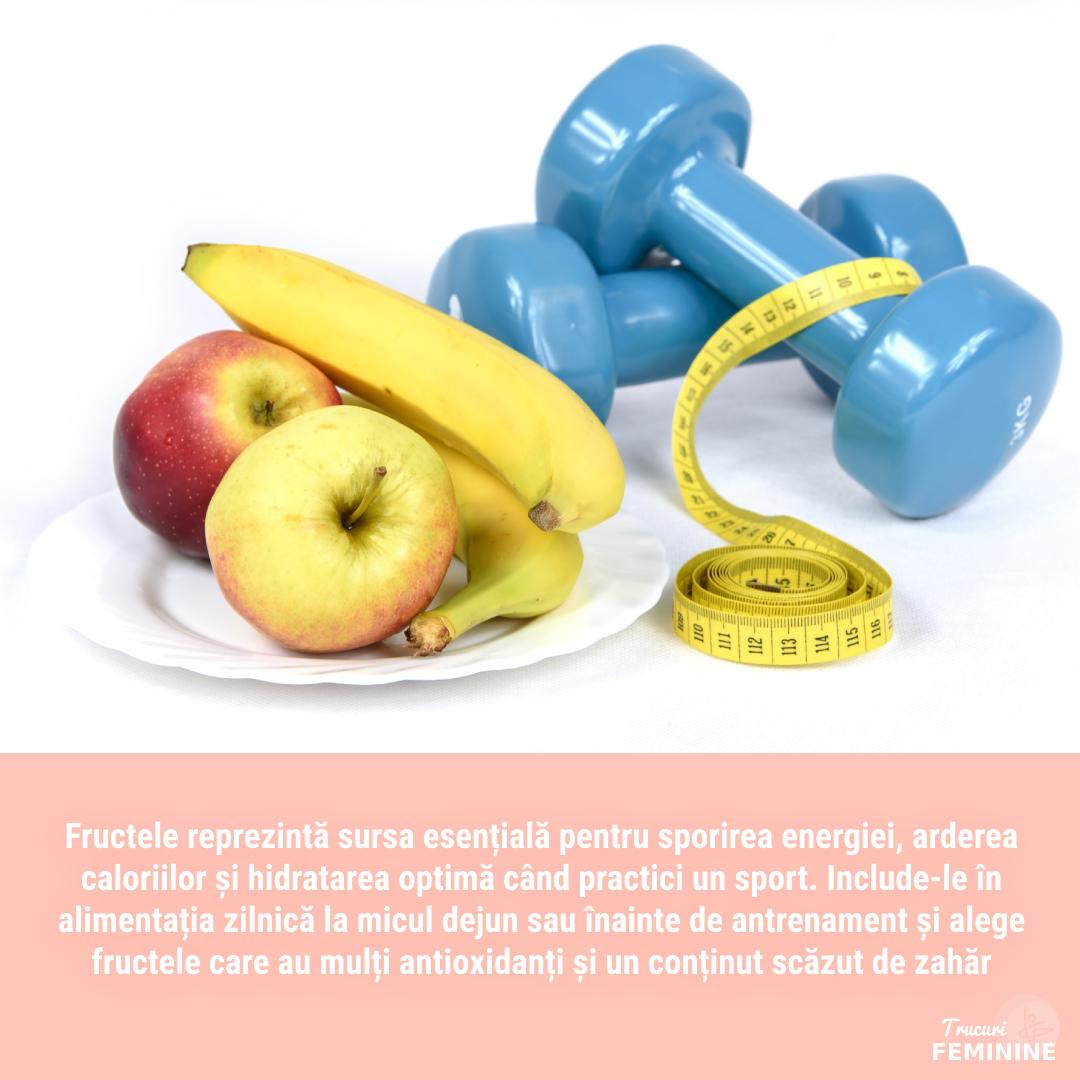 Fructele – sursa ideală de energie în sport