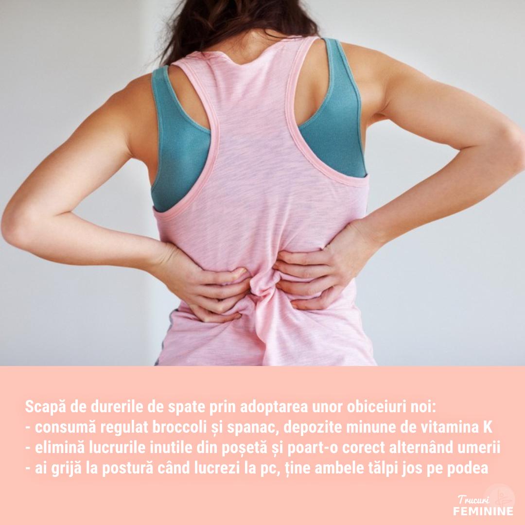 4 obiceiuri noi care te scapă de durerile de spate