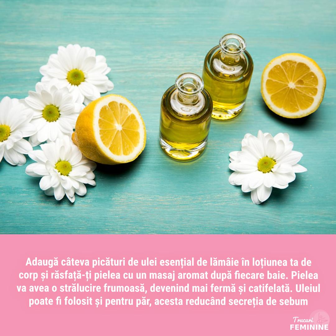 Beneficiile uleiului esențial de lămâie