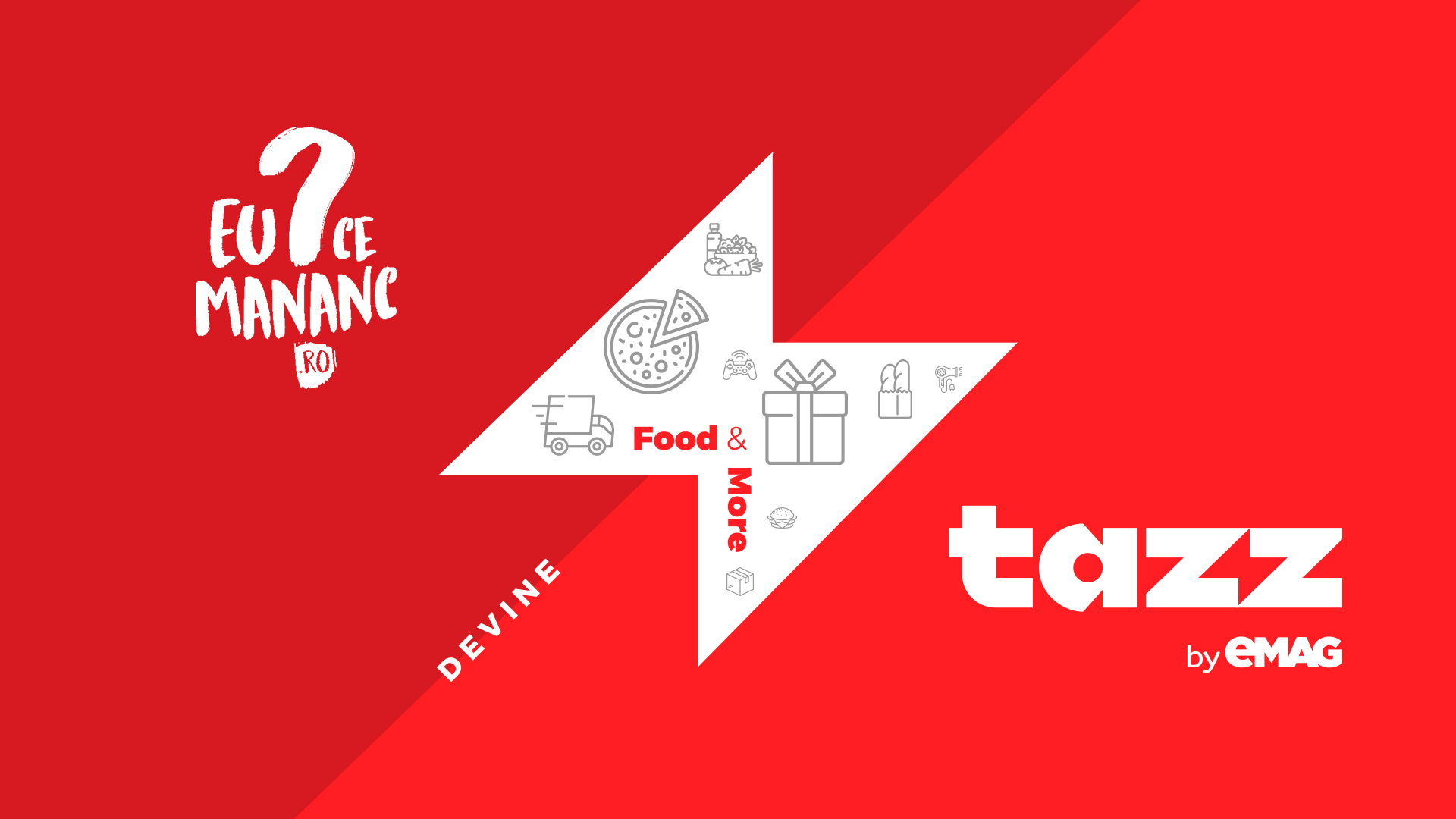 Platforma EuCeMănânc devine Tazz by eMAG – viteză și diversitate la tine acasă