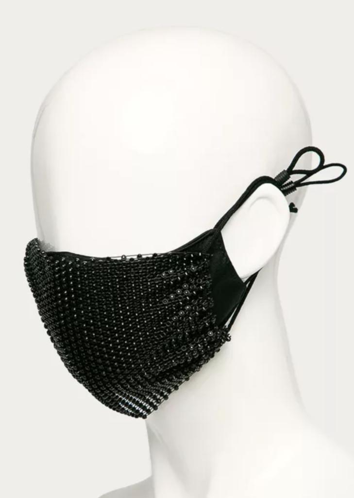 masca de protectie desigual perle imprimeu accesoriu elegant stil