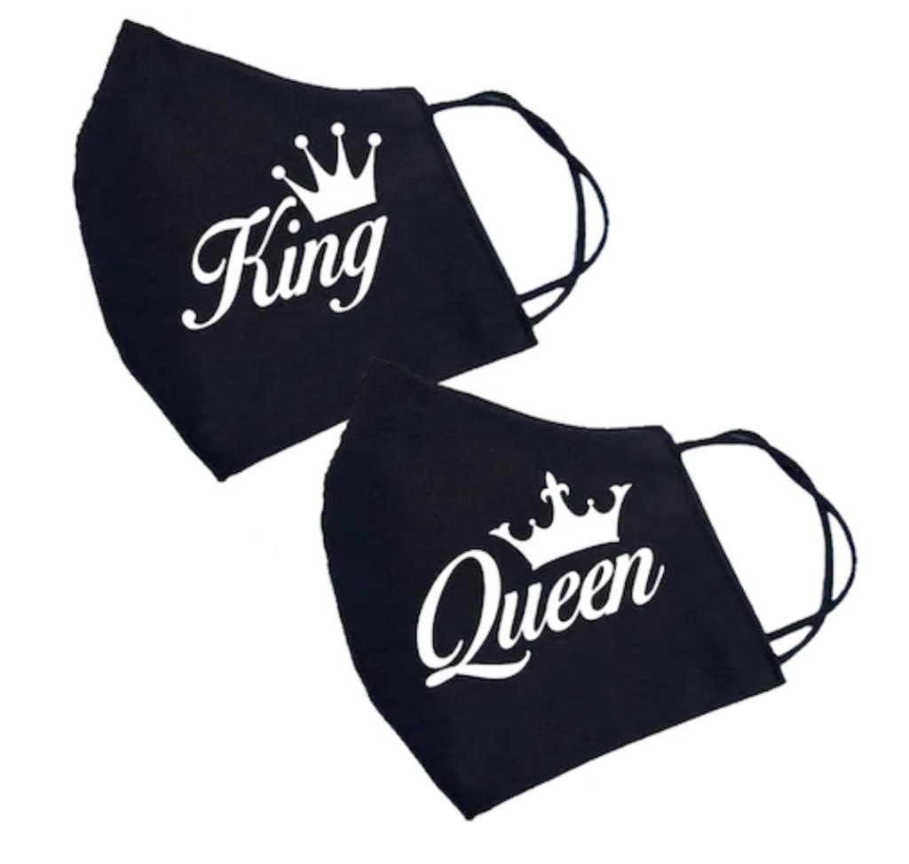 set cuplu personalizate king queen cadou iubit cuplu