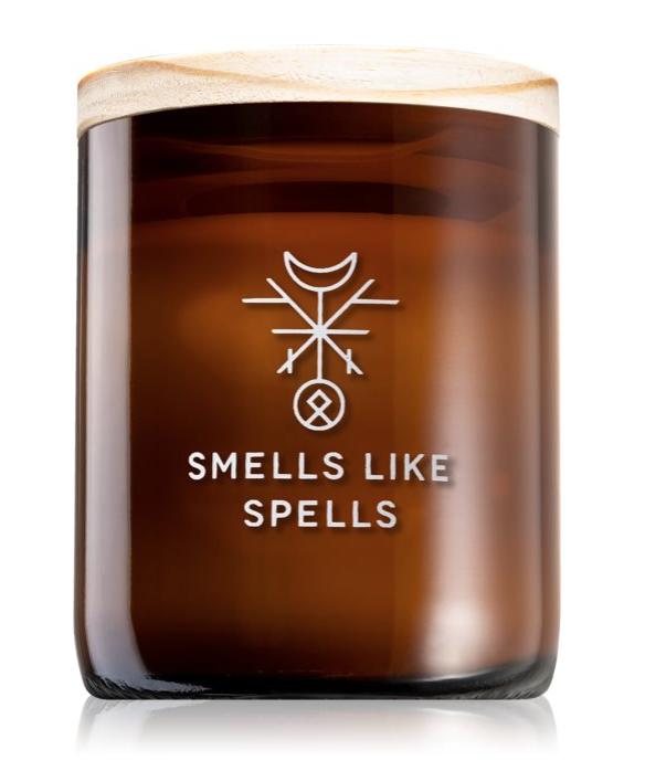 Lumanare parfumata Smells Like Spells MIMIR masuri de relaxare energie pozitiva cera din soia lemn santal menta