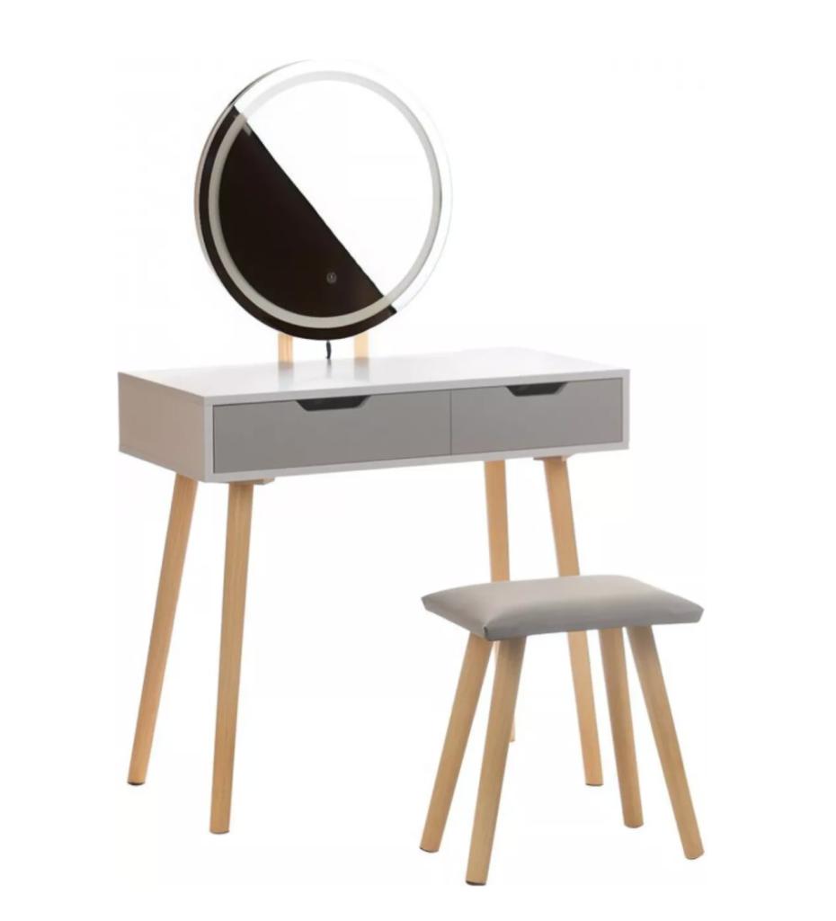 masa de toaleta sau masuta de machiaj pentru organizare cosmetice si produse makeup